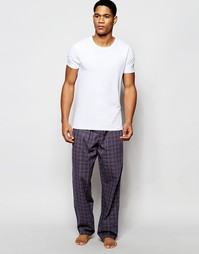 Calvin Klein Woven Check Loungepant In Loose Fit - Серый