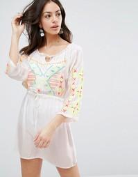 Пляжное платье с вышивкой Anmol