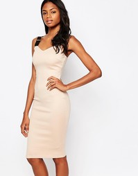 Платье миди с эластичными ремешками - Телесный AX Paris