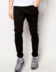 Байкерские джинсы с потертостями Systvm Malibu - Черный
