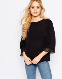 Блузка с декоративной отделкой манжет JDY - Черный