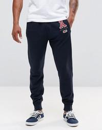 Спортивные штаны с манжетами и аппликацией Abercrombie & Fitch