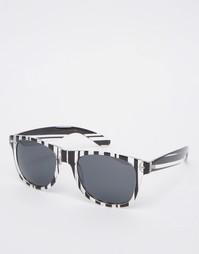 Солнцезащитные очки в полосатой оправе AJ Morgan