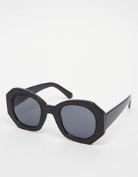 Большие солнцезащитные очки в контрастной оправе AJ Morgan