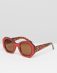 Контрастные солнцезащитные очки в стиле oversize AJ Morgan