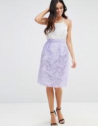 Платье с пышной юбкой Lashes Of London - Фиолетовый
