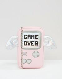 Сумка через плечо с принтом Game Over Skinnydip - Розовый