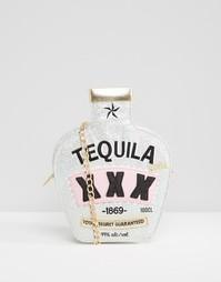 Блестящая сумка через плечо с принтом Tequila Skinnydip - Мульти
