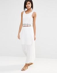 Платье макси с ажурной вставкой Vero Moda - Белый