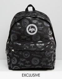 Эксклюзивный рюкзак с логотипами Hype - Black logos