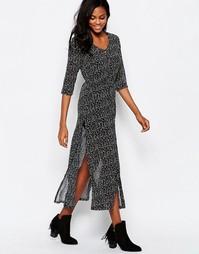 Платье макси в горошек Goldie Karley - Черный