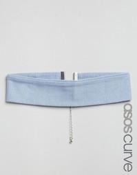 Трикотажное ожерелье-чокер ASOS CURVE - Серый