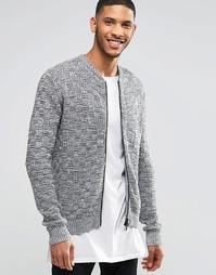 Фактурная вязаная куртка Religion - Серый