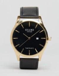 Часы с кожаным ремешком Reclaimed Vintage - Черный