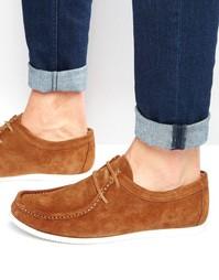 Светло-коричневые замшевые туфли ASOS - Рыжий