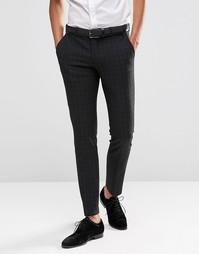 Стретчевые брюки скинни в мелкую шотландскую клетку Selected Homme