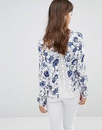 Рубашка с цветочным принтом Only Eleanora - Moonlight blue
