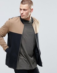 Облегающая трикотажная куртка-пилот со вставками ASOS