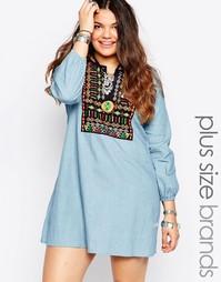 Джинсовое платье с вышивкой Alice & You - Синий