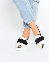 Кремовые туфли с серебристым носком Miss KG Lisa - Кремовый