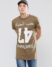 Длинная футболка Criminal Damage - Зеленый