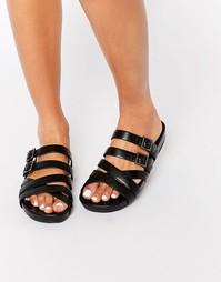 Сандалии с ремешками и пряжками ALDO - Черный