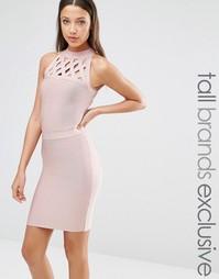 Бандажное платье с решеткой из лямок True Decadence Tall