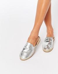 Эспадрильи-слипоны цвета металлик ALDO - Серебряный