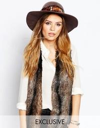 Широкополая шляпа в винтажном стиле Catarzi - Глазированный