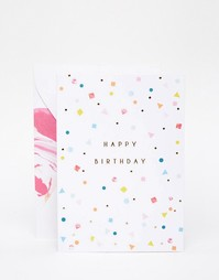 Поздравительная открытка на день рождения с гирляндой Meri Meri