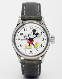 Часы с черным ремешком Disney Mickey Mouse - Черный