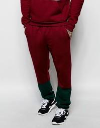 Спортивные штаны колор блок American Apparel - Йоркширский красный