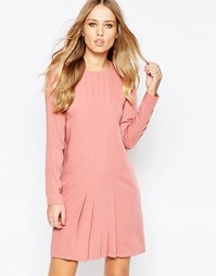 Платье со складками спереди YAS Mava - Розовый Y.A.S