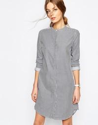 Платье-рубашка в тонкую полоску Selected Livi - Мульти