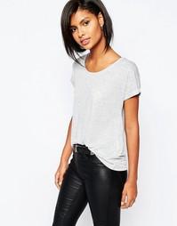 Трикотажная футболка с круглым вырезом Vero Moda - Серый