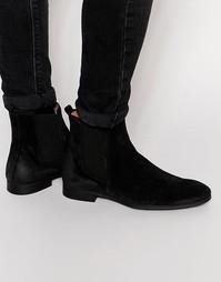 Замшевые ботинки челси Selected Homme Yannick - Черный