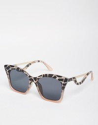 Солнцезащитные очки кошачий глаз с фигурными дужками ASOS - Серый