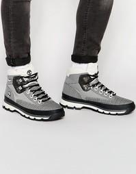 Жаккардовые ботинки Timberland Euro Hiker - Серый