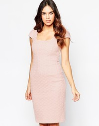 Платье миди с вышивкой ришелье Hybrid