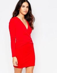 Облегающее платье c запахом спереди Hedonia April - Красный