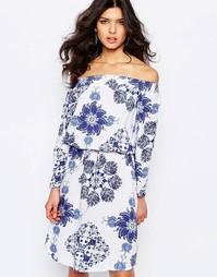 Платье с разноцветным принтом Y.A.S Hope - Синий принт