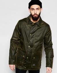 Вощеная куртка с вельветовым воротником Brixtol - Оливковый
