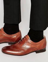 Кожаные броги Hudson London Francis - Коричневый