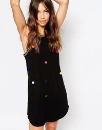 Пляжное платье с помпонами Pitusa - Черный