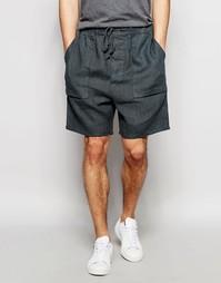 Серые фактурные шорты слим ASOS - Серый