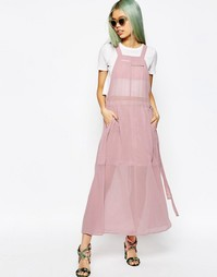 Длинное платье‑комбинезон ASOS - Розовый