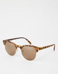 Винтажные солнцезащитные очки в матовой черепаховой оправе ASOS