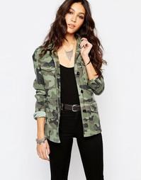 Куртка с камуфляжным принтом Replay - Хаки