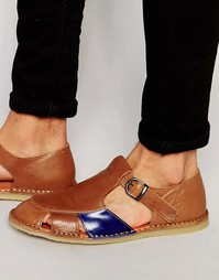 Кожаные сандалии Kurt Geiger Dwight - Рыжий