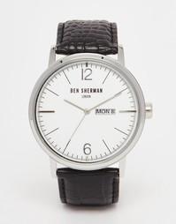 Часы с черным кожаным ремешком Ben Sherman Portobello - Черный